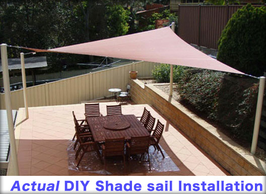 Shade Sail DIY Installation